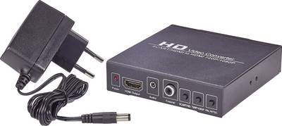 SpeaKa Professional AV Converter SP-HD/SC-01 [SCART - HDMI, Jack, RCA Digital] 1920 x 1080 pix