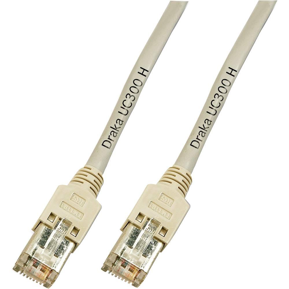 RJ45 mrežni kabel CAT 5e F/UTP [1x RJ45 utikač - 1x RJ45 utikač] 30 m sivi nezapaljivi DRAKA K8452.30
