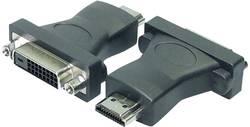 DVI / HDMI Adapter LogiLink [1x DVI-hona 24+1 pol - 1x HDMI hane] Svart