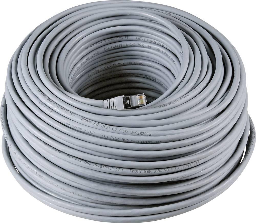 Omrežni kabel RJ45 za industrijsko rabo, CAT 6a, S/FTP, sivebarve, 20 m EFB Elektronik