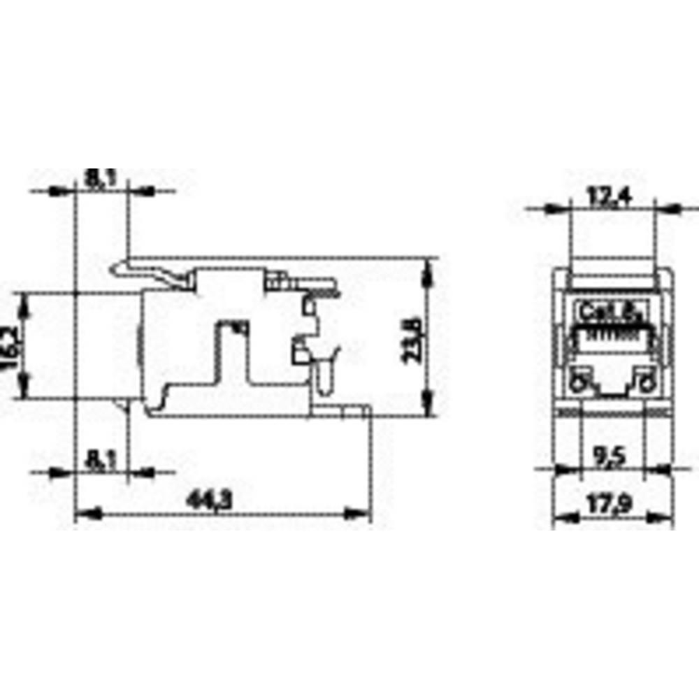 Rj45 Module Keystone Cat 6a Telegrtner J00029k0036 From Monitor Panel Wiring Diagram