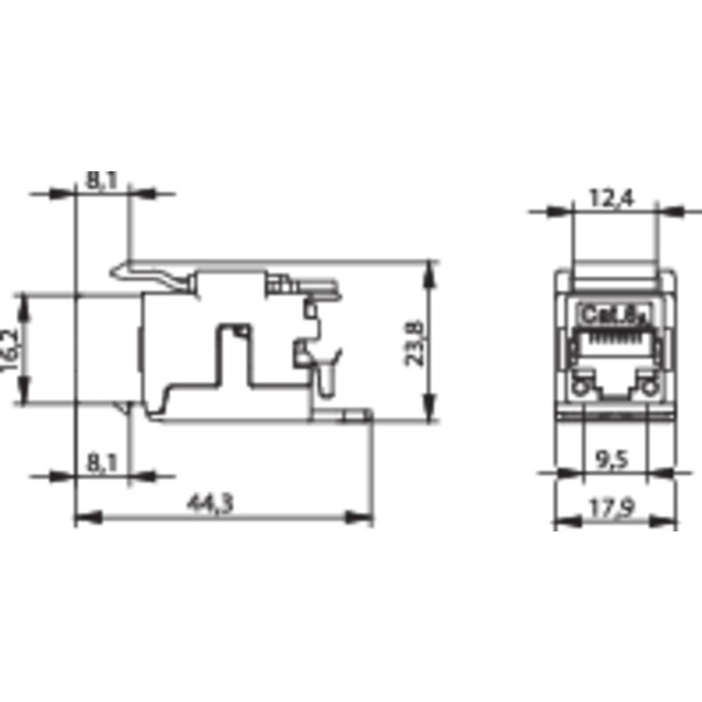 Rj45 Module Keystone Cat 6a Telegrtner J00029k0036 From Conrad 6 Wiring Diagram For The Shield