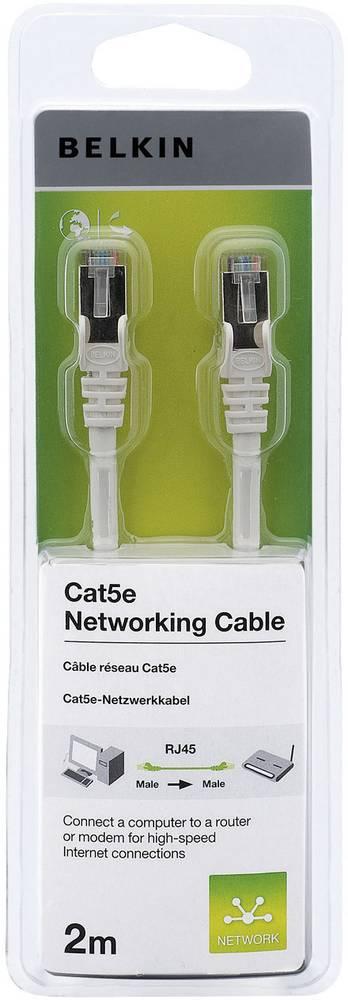 Omrežni kabel RJ45 Belkin, CAT5e, F/UTP, bele barve, 2 m A3L791cp02MWHHS