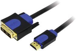 DVI / HDMI Anslutningskabel LogiLink [1x DVI-hane 18+1 pol - 1x HDMI hane] 2 m Svart