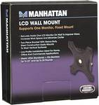 Manhattan LCD Wall Mount, Supports one monitor, fixed mount