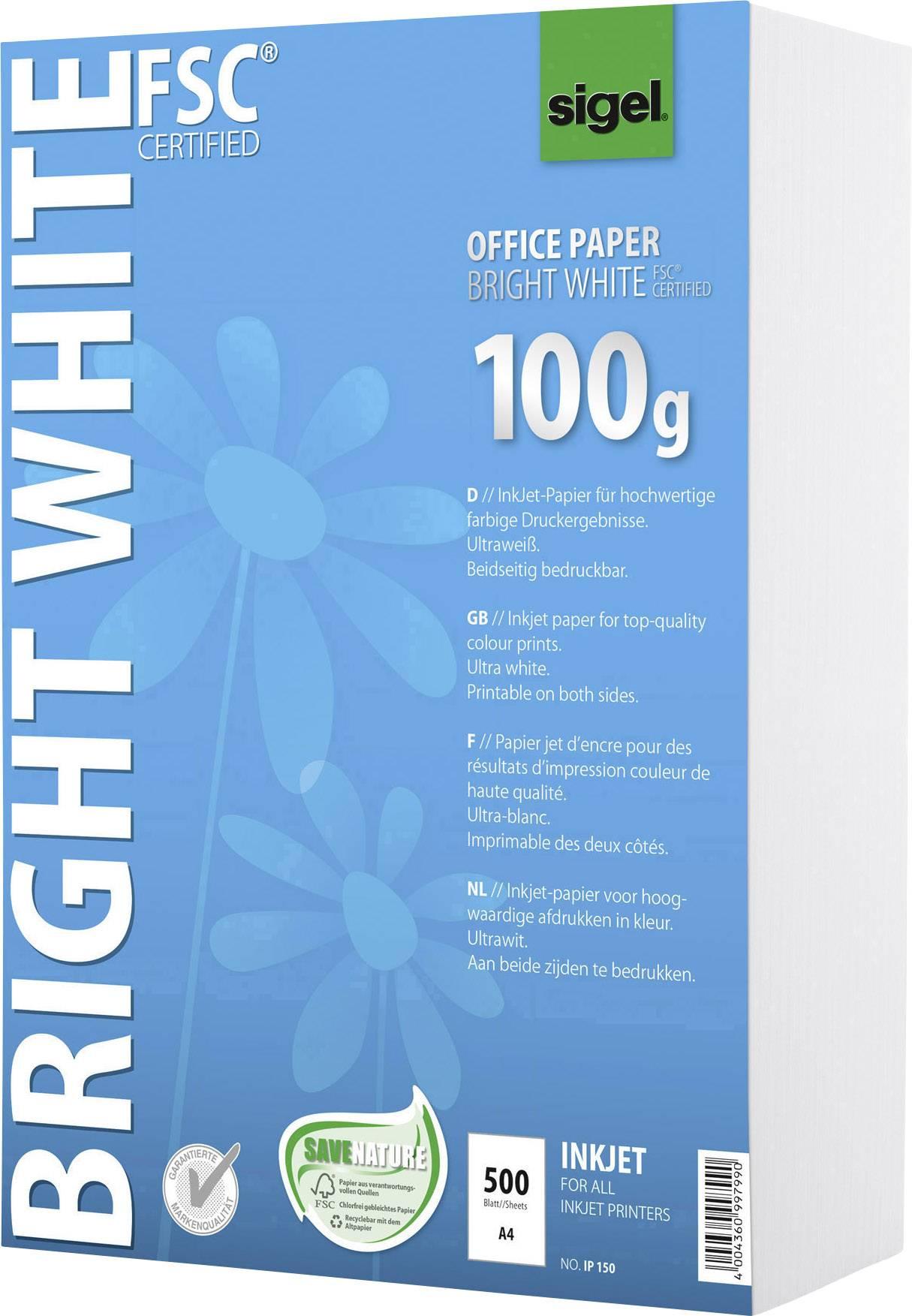 250 Blatt beidseitig bedruckbar 100 g SIGEL IP125 InkJet-Papier A4 ultraweiß