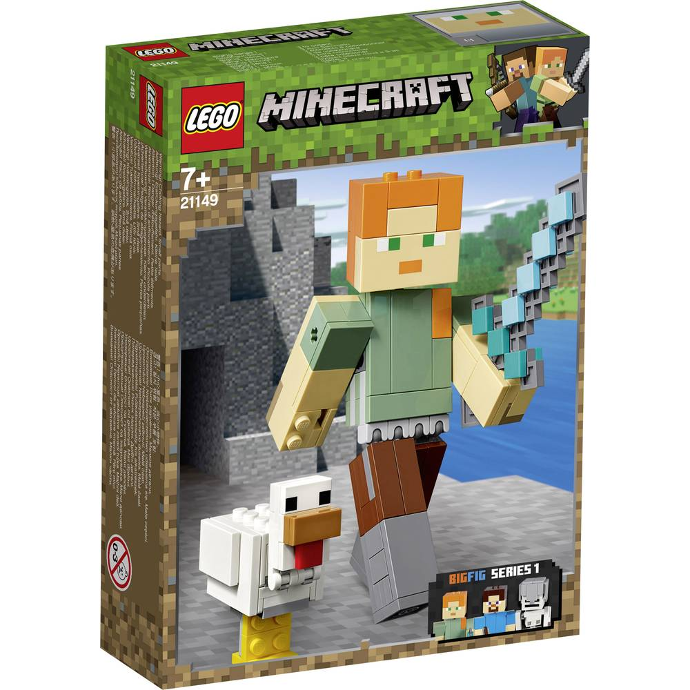Détails Sur Bigfigurine Minecraft Alex Et Son Poulet Lego Minecraft Bigfigurine