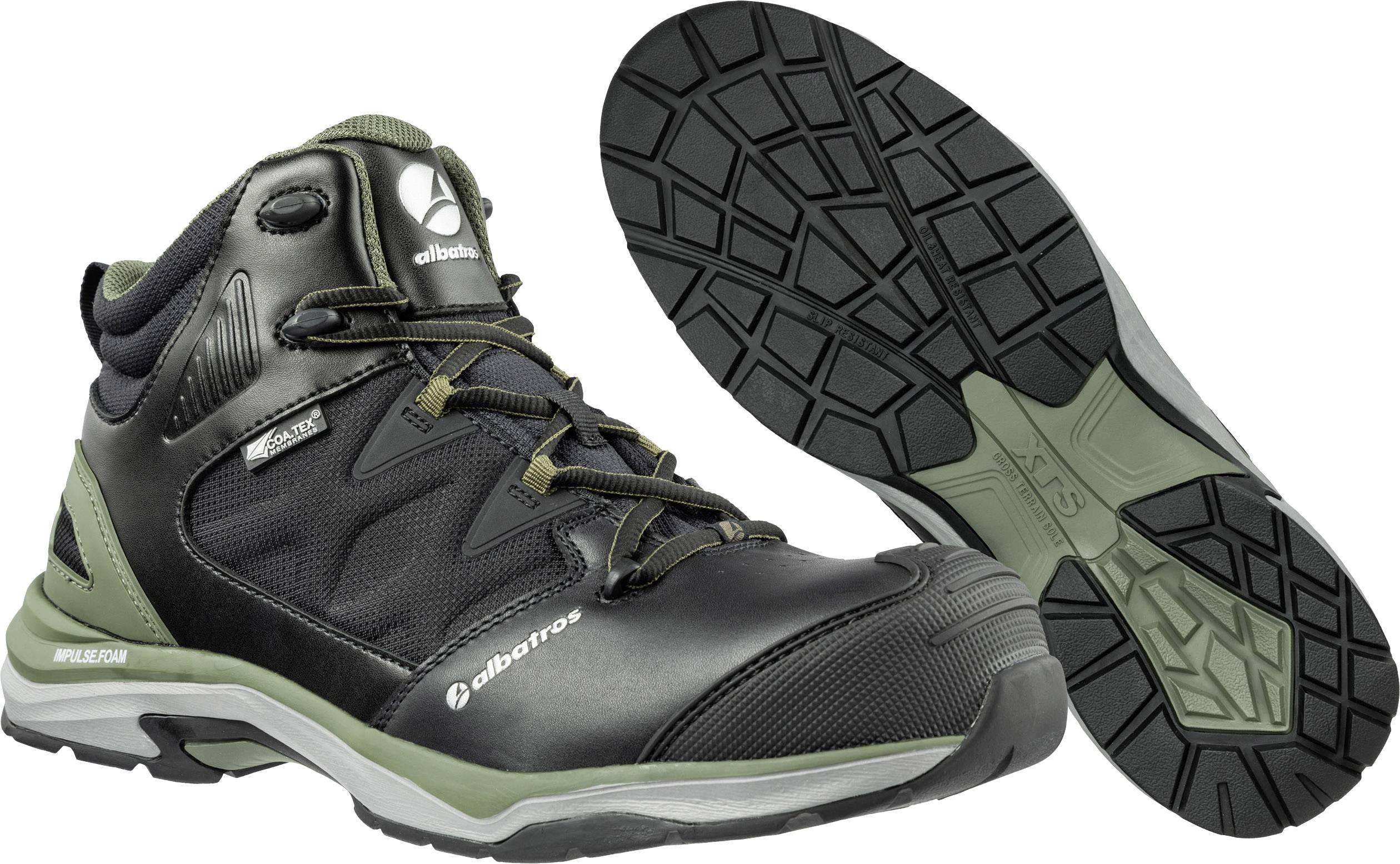 Chaussures montantes de sécurité ESD S3 Albatros ULTRATRAIL OLIVE CTX MID 636220 39 Taille: 39 noir, olive 1 paire(s)