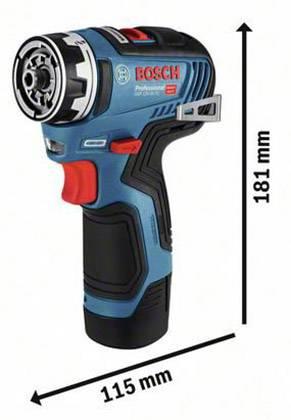 Bleu Bosch Professional 06019H3003 Perceuse-Visseuse sans Fil 12 V Li-Ion