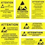 Autocollant Quadrios, feuille d'avertissement ESD, anglais