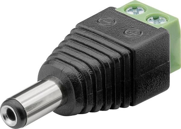 Connecteur basse tension mâle, droit Goobay 76747 76747 Ø..