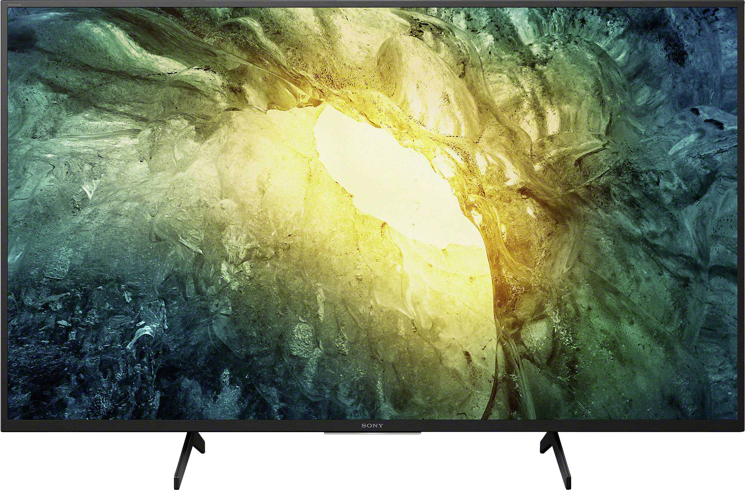 televiseur led sony kd49x7055baep 123 cm 49 pouces wi fi dvb t2 hd dvb s2 dvb c ci uhd smart tv