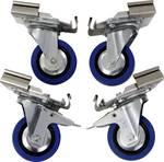 Jeu de roulettes Profi pour boîtes en aluminium