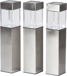 Lampadaire D Exterieur Solaire Grundig Led Set De 3 Blanc Chaud