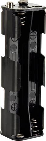 Support de pile 8x LR6 (AA) Velleman BH382B raccord par bouton-poussoir (L x l x h) 108.5 x 31.5 x 29.5 mm