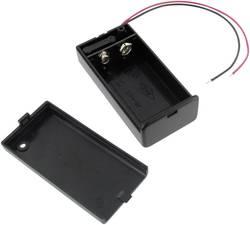 Fixation de Batterie Pour 9V-Block Dans Boîtier Avec On//Off Interrupteur,
