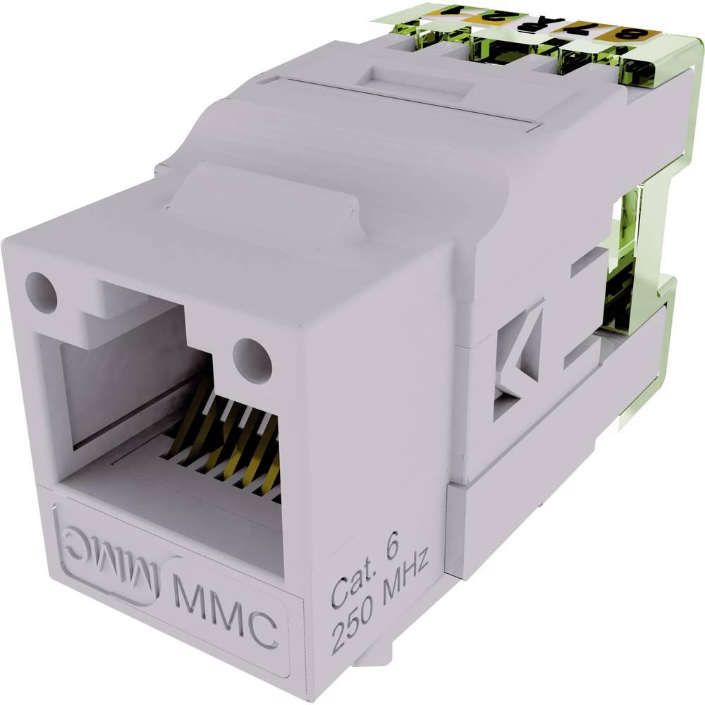 connecteur rj45 embase femelle gris 8 8 cat 6 mmc 10120269. Black Bedroom Furniture Sets. Home Design Ideas