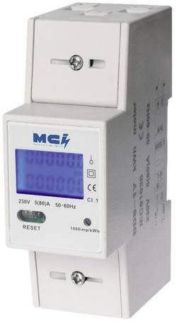 Compteur d'énergie monophasé numérique MCI CONTAX 80A RAZ 80 A conformité MID: non