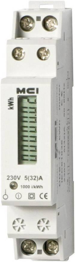 Compteur d'énergie monophasé numérique MCI Contax 40A LCD conformité MID: non