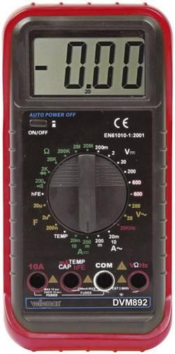 Multimètre numérique Velleman MULTIM NUMERIQUE LCD3 1/2-24 GAMMES/10A CAT II 600 V Affichage (nombre de points): 2000