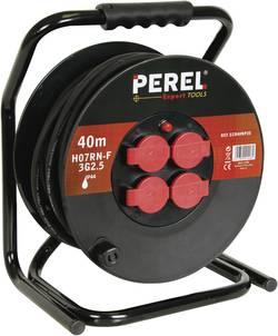 Enrouleur de câble 40 m Perel ECR40NP25 noir mâle française 1 pc(s)