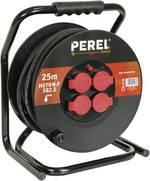 Enrouleur de câble 25 m Perel ECR25NP25 noir mâle française 1 pc(s)