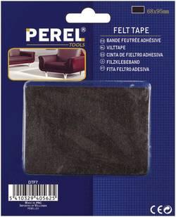 Lot de 2 patins à coller Perel DTF7 (L x l) 95 mm x 68 mm noir 1 pc(s)