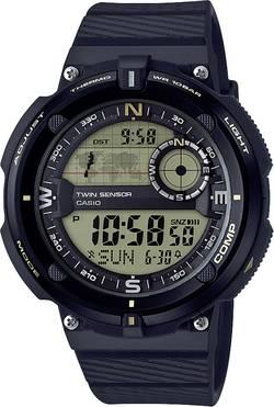 Casio à quartz Montre-bracelet SGW-600H-9AER (L x l x h) 50.6 x 45 x 12.8 mm noir, or Matériau du boîtier=Résine Matéria