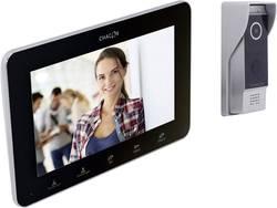 Set complet d'Interphone vidéo IP Chacon 34890 aluminium, noir