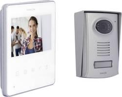 Set complet d'Interphone vidéo 2 fils Chacon 34844 aluminium, blanc