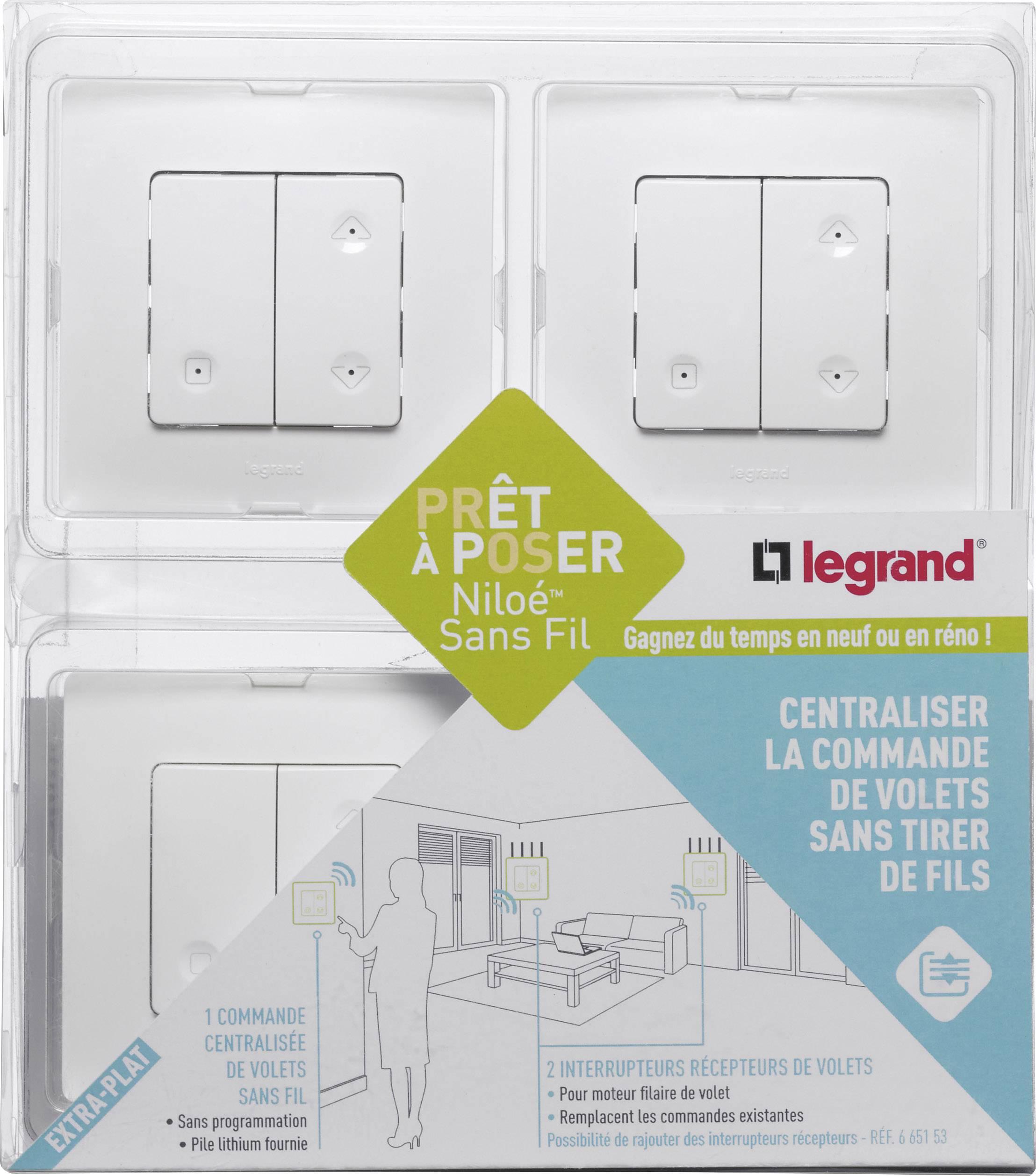 interrupteur pour volet roulant sans fil legrand leg. Black Bedroom Furniture Sets. Home Design Ideas
