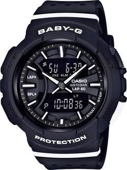 Casio à quartz Montre-bracelet BGA-240-1A1ER (L x l x h) 46.4 x 42.6 x 15.3 mm noir, blanc Matériau du boîtier=Résine Ma