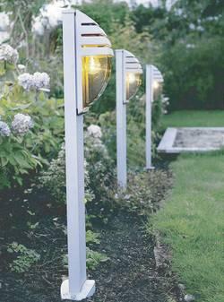 Lampadaire extérieur ECO-Light City 60 W argent 98.8 cm