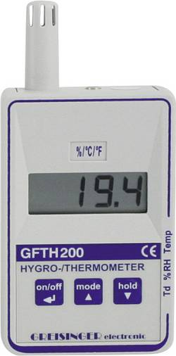 Thermo-hygromètre Etalonné selon DAkkS Greisinger GFTH 200 601007