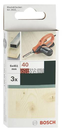 Bande abrasive Bosch Accessories 2609256235 Grain 60 (L x l) 451 mm x 6 mm 3 pc(s)