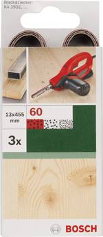 Bande abrasive Bosch Accessories 2609256237 Grain 40 (L x l) 455 mm x 13 mm 3 pc(s)