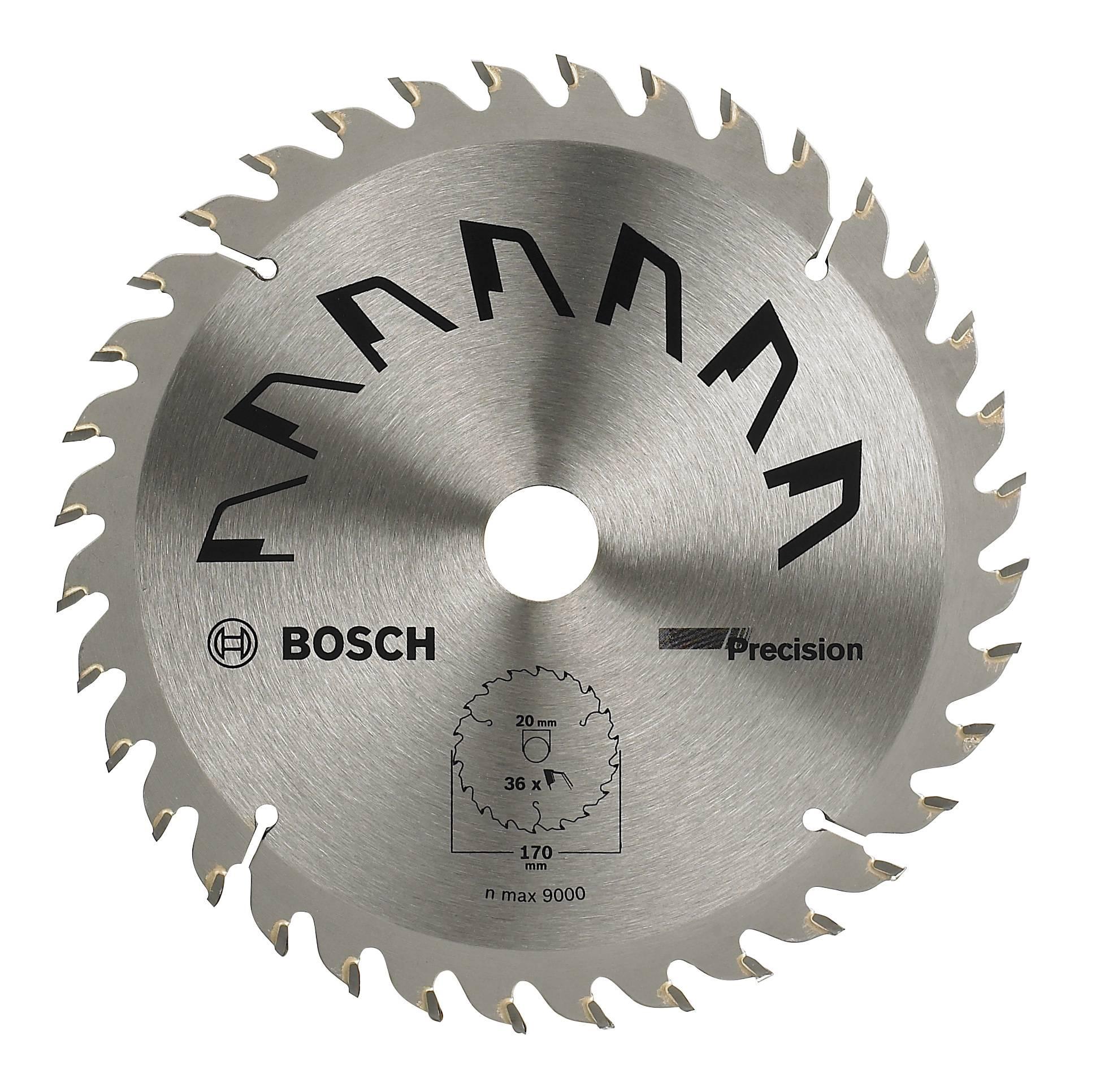 Lame de scie circulaire au carbure Bosch Accessories Precision 2609256858  170 x 20 mm Nombre de dents  36 1 pc(s)   Conrad.fr 10aa201b04e8