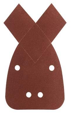 Feuille abrasive pour ponceuse Multi avec bande auto-agrippante, perforé Bosch Accessories 2609256A71 Grain 180 (L x l)
