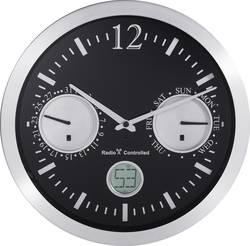 Renkforce 12112BS-D radiopiloté(e) Horloge murale 30 cm x 4.7 cm aluminium