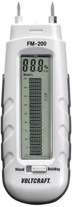 Humidimètre pour matériaux VOLTCRAFT FM-200 Construction: 0.2 à 2 % vol Bois: 6 à 44 % vol 1 pc(s)