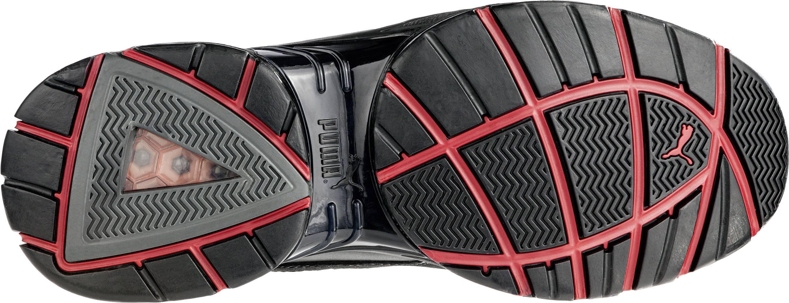 Chaussures basses de sécurité S1P Taille: 42 PUMA Safety FUSE MOTION RED LOW HRO SRA 642540 coloris noir, rouge 1 paire