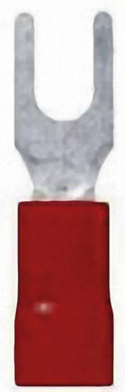 Cosse à fourche LappKabel 63105050 Ø du trou: 4.3 mm 0.50 mm² 1.50 mm² M4 partiellement isolé rouge 100 pc(s)