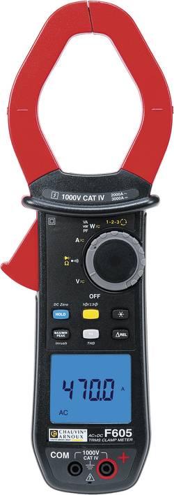 Pince ampèremétrique, Multimètre numérique Chauvin Arnoux F605 CAT IV 1000 V Affichage (nombre de points):10000