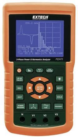 Analyseur d'harmoniques et de puissance triphasé Extech PQ3470