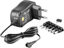 Goobay 67951 Bloc d'alimentation réglable 3 V/DC, 4.5 V/DC, 5 V/DC, 6 V/DC, 7.