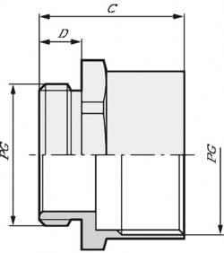 Prolongateur pour presse-étoupe LappKabel 52020950 PG13.5 PG13.5 Polyéthylène 100 pc(s)