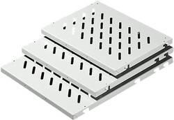 Plaque passe-câbles perforé Rittal 7166.035 Tôle d'acier gris (RAL 7035) (L x l) 600 mm x 600 mm