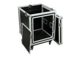 Mallette Omnitronic 10 HE avec poignée de transport, avec roulettes noir-argent bois, aluminium, acier, Chrome