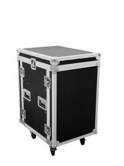 Mallette Omnitronic U 14 HE avec roulettes, avec poignée de transport noir-argent bois, aluminium, acier, Chrome