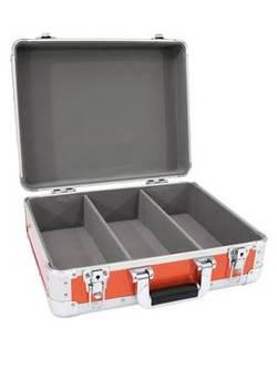 Mallette Omnitronic CD-Case ALU Digital-Booking avec poignée de transport rouge-argent aluminium, caoutchouc, Mousse